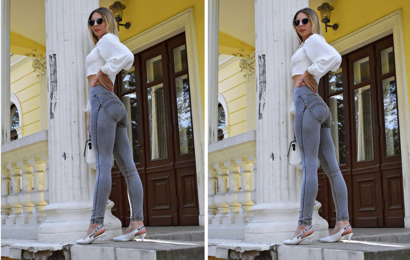 jeansy modelujące pośladki